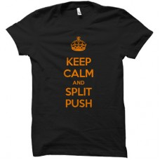FNATIC KEEP CALM AND SPLIT PUSH T-SHIRT SIZE L